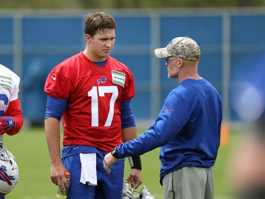 Bills head coach Sean McDermott with the team's top