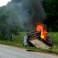 Truck explodes on I-89, driver pulled to safety