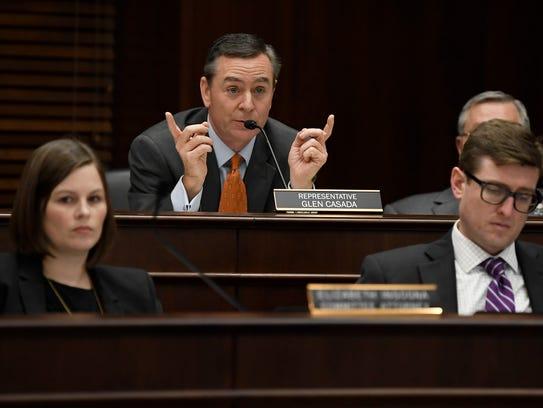 Rep. Glen Casada speaks about a bill that will allow