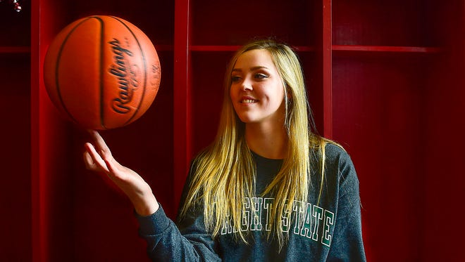Pleasant senior basketball player Summer Blevins was named Fahey Bank Athlete of the Month for girls in February.