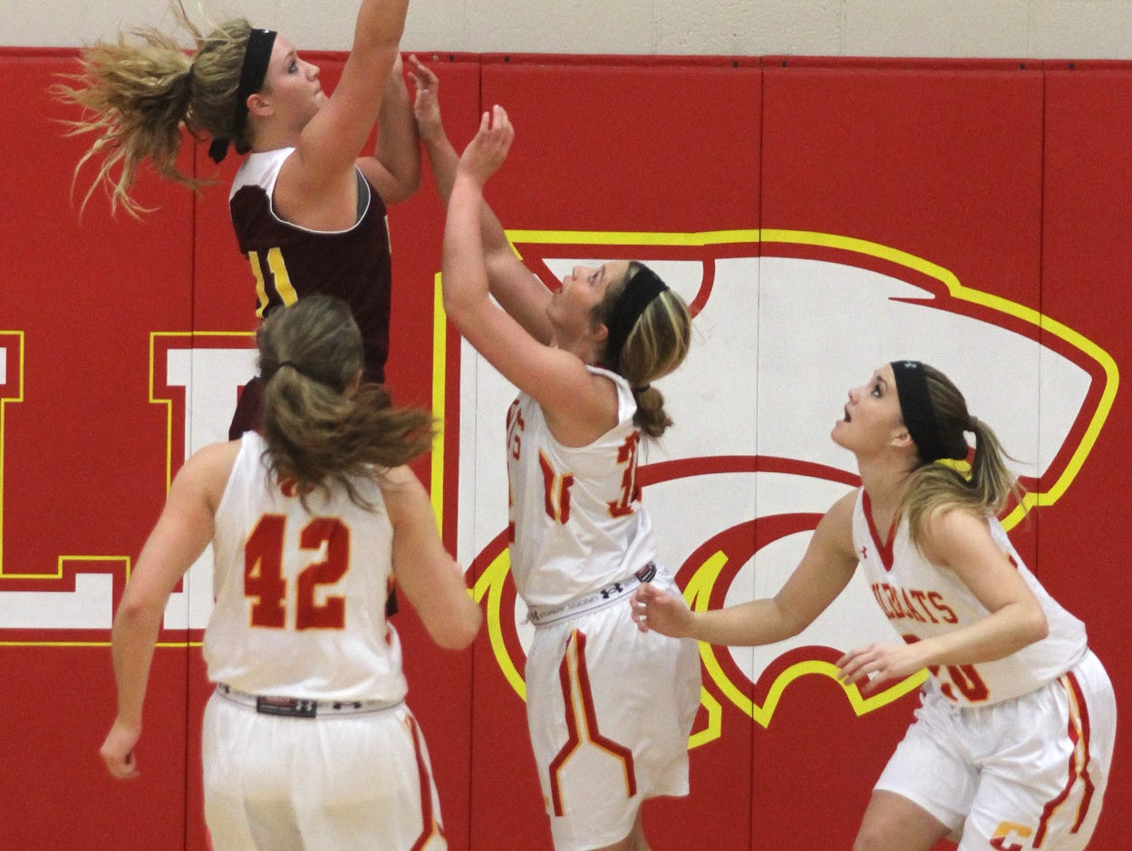 Ankeny junior Codee Myers shoots a jump shot against Carlisle. Class 4-A 15th-ranked Carlisle beat Ankeny 57-44 in the Wildcats' home opener on Nov. 24.