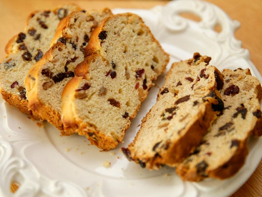 Barm brack, at left, and tea brack are both traditional