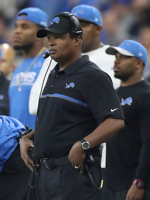 Lions coach Jim Caldwell watches action against the Washington Redskins on Oct. 23, 2016 at Ford Field.