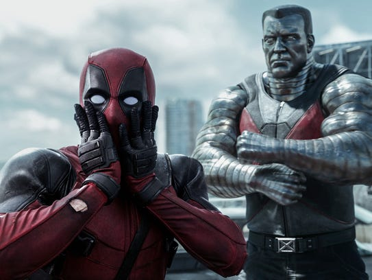 'Deadpool,' starring Ryan Reynolds, is first place