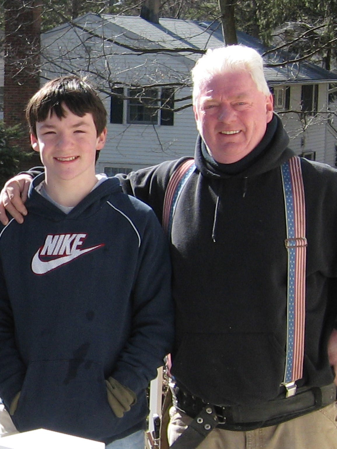 Jim Fisher with his son Sean, who died of sudden cardiac