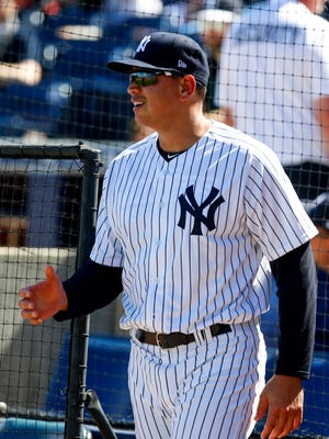 Alex Rodriguez was inin Yankees camp as a spring advisor.