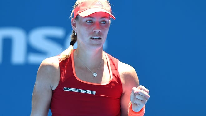 Angelique Kerber of Germany withdrew from the Sydney International on Tuesday with a stomach illness.