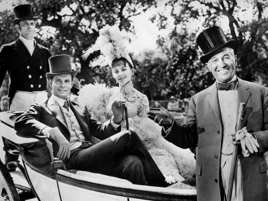 Louis Jourdon, Leslie Caron, and Maurice Chevalier on the right, from 'Gigi'.