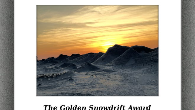 The award goes each year to the snowiest place in the Great Lakes region.