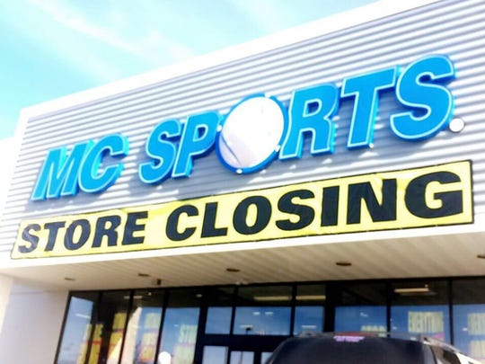 MC Sports February 19 in Wisconsin Rapids. The company declared bankruptcy in February.