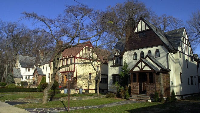 Tudor style homes in the Fleetwood section of Mount Vernon.