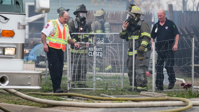 San Angelo Fire Department work on the scene of a house fire Thursday, March 15, 2018, at 1623 Beacon St.