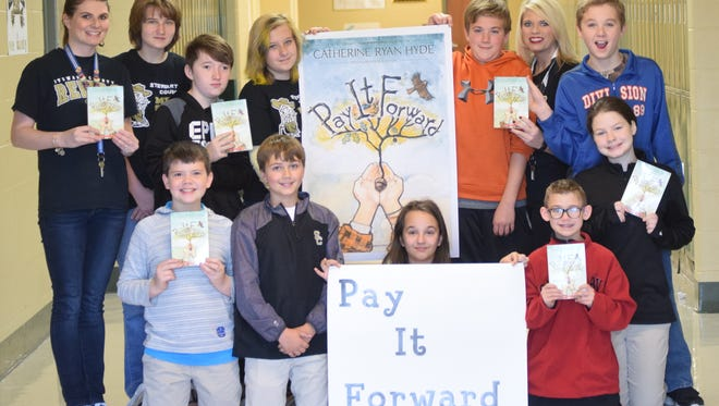 """Members of Stewart County Middle School sixth-grade RTI class are putting """"Pay it Forward"""" into practice by supporting the county's Angel Tree program."""