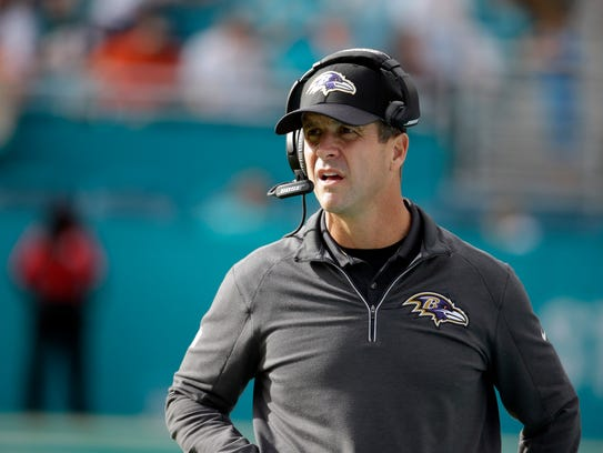 Baltimore Ravens head coach John Harbaugh has fired