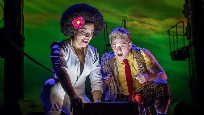 "Vassar College graduates Lilli Cooper and Ethan Slater in ""SpongeBob SquarePants: The Musical"" on Broadway."