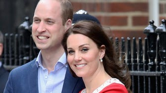 Prince William and Duchess Kate introduce the newest Cambridge to the world outside the Lindo wing of St. Mary's Hospital in London.