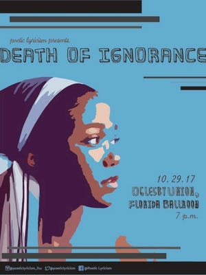 Flyer for Poetic Lyricism's Death of Ignorance.