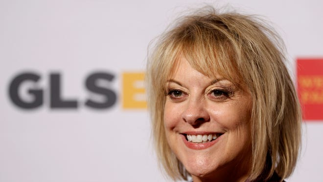 In this Friday, Oct. 21, 2014, file photo, television host Nancy Grace arrives at the 7th annual GLSEN Respect Awards in Beverly Hills, Calif.  Grace is leaving her prime-time show on the HLN network in October 2016. The CNN sister station said Grace told her staff on Thursday, June 30, 2016 that her show would be ending after 12 years. An HLN spokeswoman said the network had no immediate announcement on what program would go in its place.