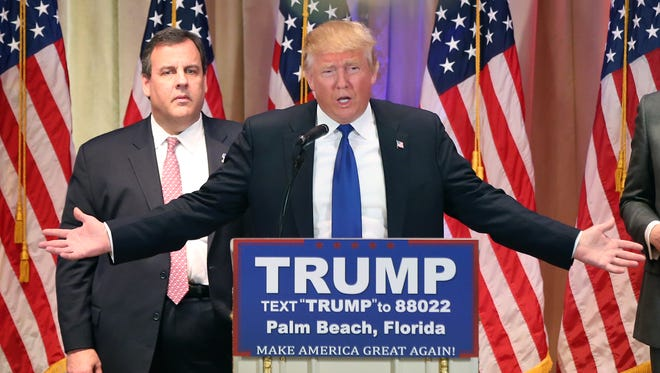 Republican presidential candidate Donald Trump speaks on Super Tuesday primary election night in Palm Beach, Fla.