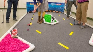 Creative mini-golf holes were created by sponsors and designers during last year's Browser Open.