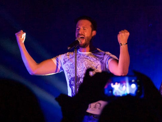 German pop star Michael Wendler performs to a sold-out