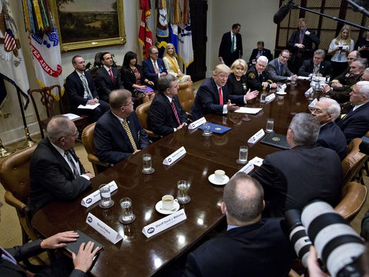 President Trump Holds Listening Session With County Sheriffs