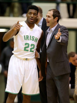 Former Cathedral coach Andy Fagan, right, will be an assistant coach to Jason Gardner at IUPUI.
