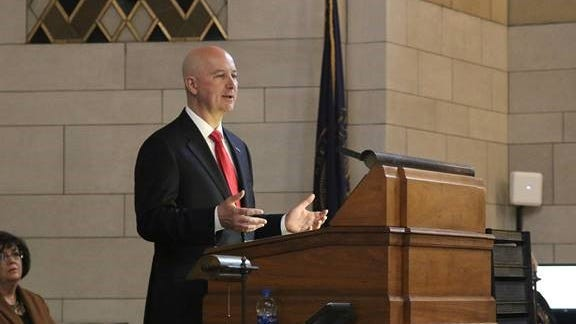 Gov. Pete Ricketts delivered his State of the State Address Wednesday, Jan. 15, in Lincoln.