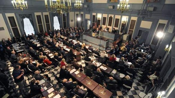Gov. Jack Markell delivers his State of the State address in January