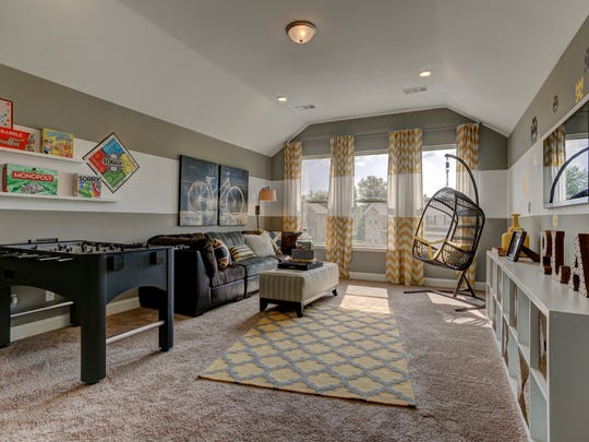 Lennar's Brixworth floor plan offers a bonus room that appeals to families with children.