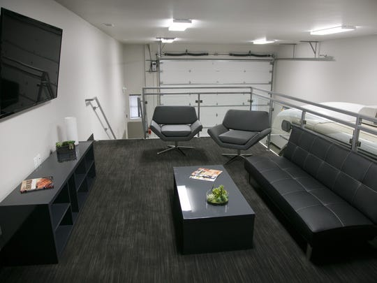 The model man cave in the Adventure Storage units near