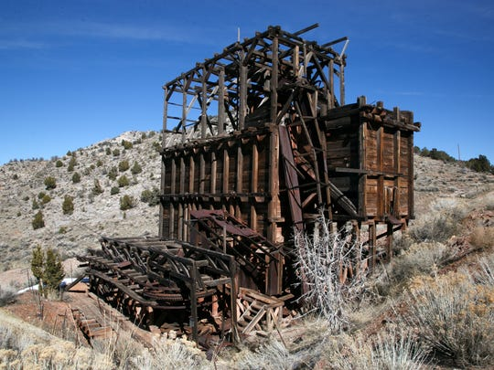 The aerial tramway that carried ore from the mines in the hills above Pioche down into town still stands on the south end of town.