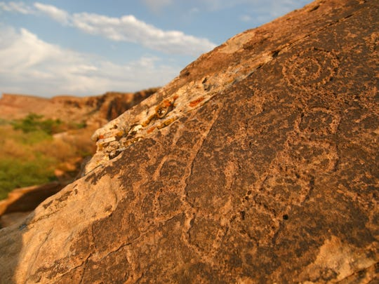 Petroglyph can also be found in the area of Fort Pearce