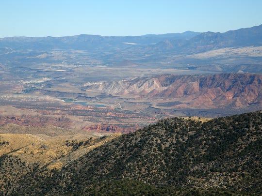 Gunlock Reservoir as seen from the peak of West Mountain.