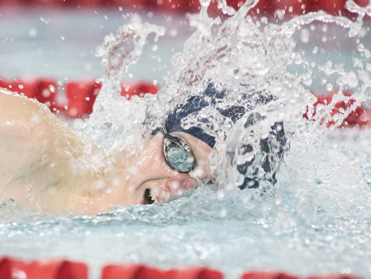 West York's Luke Foery competes in the boys' 500-yard