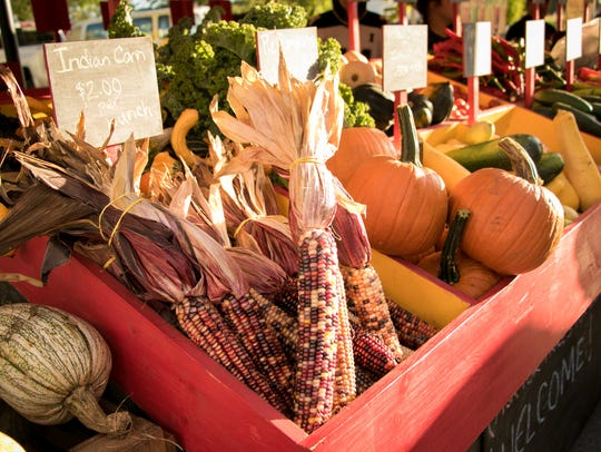 An assortment of fall goods at the Downtown Des Moines