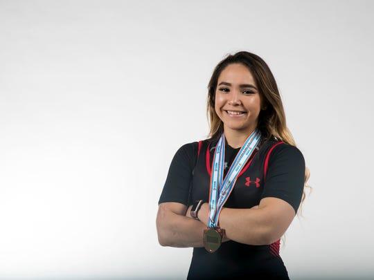 Angelica Cuellar, LaBelle High School, weightlifting