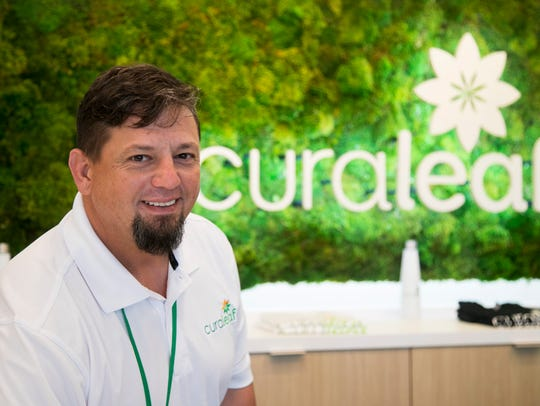 John Buehler helps manage Curaleaf, a medical marijuana