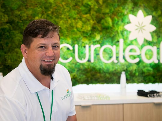 John Buehler helps manage Curaleaf, a medical marijuana dispensary in Fort Myers. They have THC oils, THC and CBD vapes and THC capsules available for patients. They also deliver to established patients.