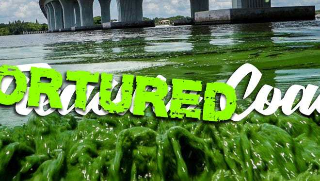 "The logo for Rep. Brian Mast's ""The Tortured Coast"" documentary series."