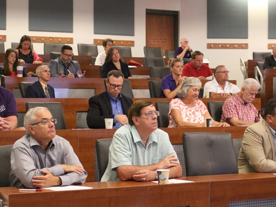 A group of about 100 Marion County leaders gathered to hear a talk about the county's economic development climate Thursday at Marion Technical College.