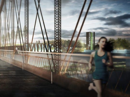 Historic Bridge 85 will link the White River and Cardinal Greenways..