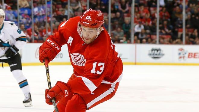 Detroit Red Wings' Pavel Datsyuk.