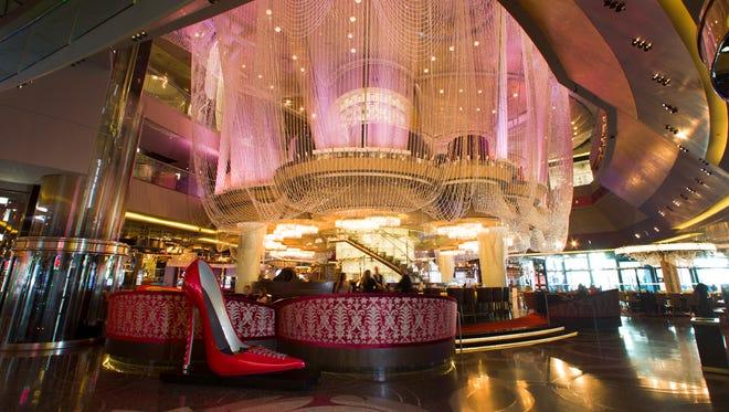The Chandelier Bar at the Cosmopolitan Las Vegas.