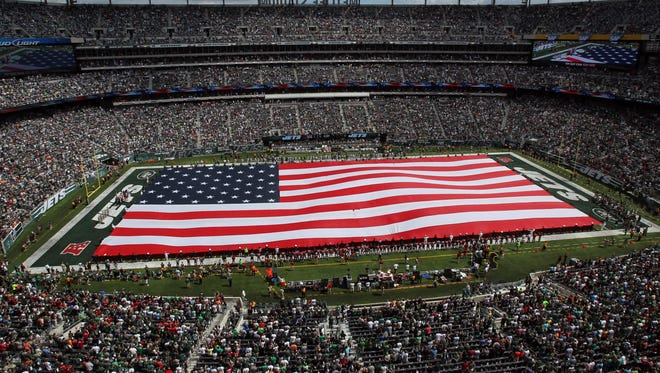 During the 2012 and 2013 NFL seasons, the New Jersey Army National Guard paid the New York Jets between $97,000 and $115,000 for a wide range of advertising and promotion.