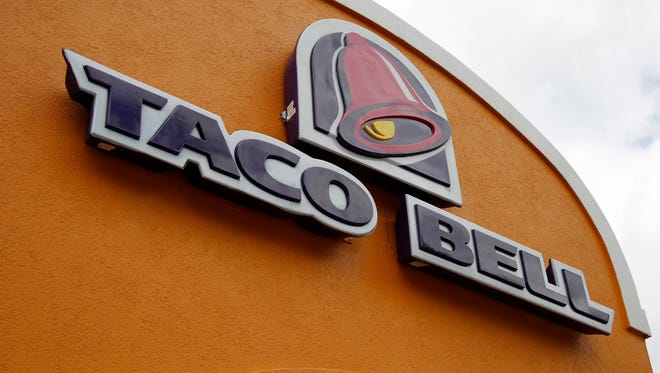 Taco Bell sign.