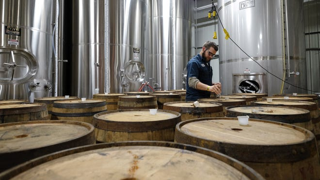 Holland-based New Holland Brewing Co. ages its Dragon's Milk (11% ABV) imperial stout in bourbon barrels.