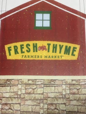 Fresh Thyme Farmers Market asked the BZA to approve this sign at 12 feet tall.