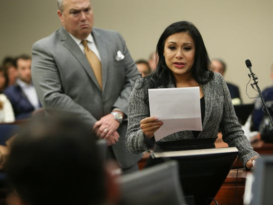 Former gymnast Jeanette Antolin addresses Larry Nassar