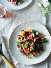 "If you like a good Bloody Mary, you'll want to try this steak salad from ""Food52 Mighty Salads."""